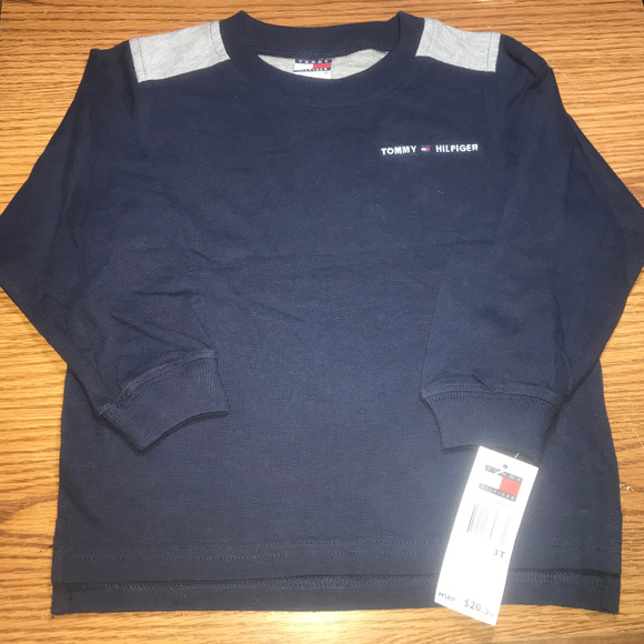 Tommy Hilfiger Other - Tommy Hilfiger blue l/s shirt boys 3T NWT